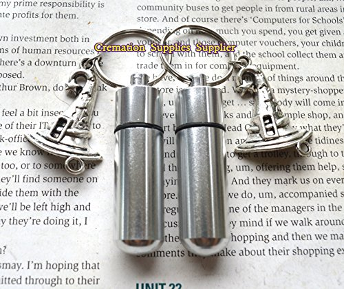 Witch hat Stainless Steel Urn keychain-Witch hat Memorial Keychain-Remembrance Keychain-Sympathy-Urn for Ashes