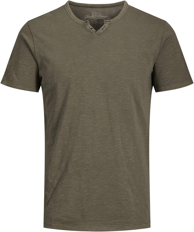 JACK & JONES Jjesplit Neck tee SS Noos PS Camiseta para Hombre