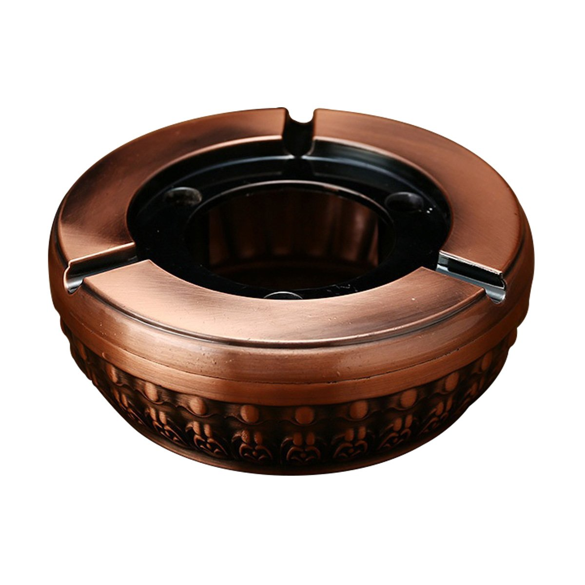 Feximzl Retro Ashtray with Embossed Element for Outdoor & Indoor Use,Home/Office – Smoking Cigarette Holder (Rose Gold)