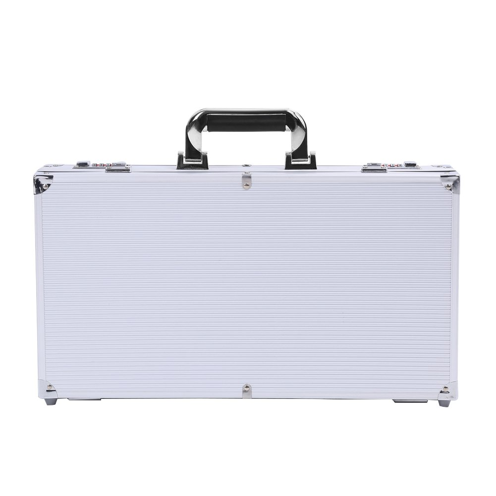 Aluminum Gun Carry Case Combination Lock Safe Storage Box with Foam Lining for Hunting