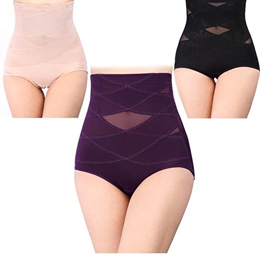 1d81f36045 Image Unavailable. Image not available for. Color  Seamless Women High  Waist Slimming Tummy Control Knickers Pant Briefs Shapewear Underwear Body  ...