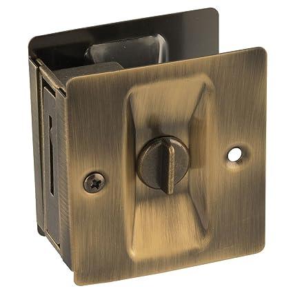 National Hardware N336-420 V1951 Pocket Door Latch in Antique Brass - Amazon.com: National Hardware N336-420 V1951 Pocket Door Latch In