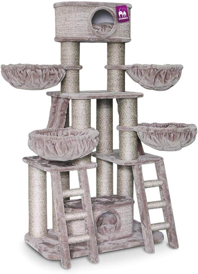 Petrebels Árbol rascador XXL para gatos grandes, estable, para Maine Coon y varios gatos, 185 cm, Cappuccino de Luxe: Amazon.es: Productos para mascotas