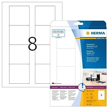 Herma 4355 Blanco Etiqueta para Impresora autoadhesiva Etiqueta de ...