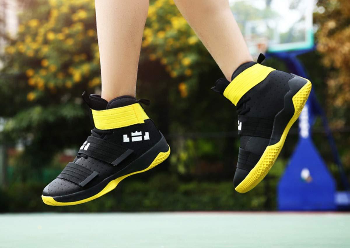 DANDANJIE Amoureux de Basket-Ball Chaussures Hommes Femmes Sports Chaussures de Plein air r/ésistant /à lusure Baskets Montantes Anti-d/érapantes Velcro Chaussures de Course