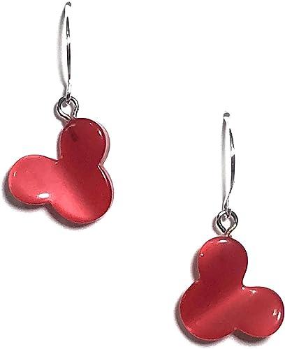 Round glitter earrings Vintage 1960s Lucite clip earrings Seashell earrings