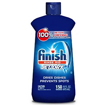 amazon com finish jet dry rinse aid 16oz dishwasher rinse agent