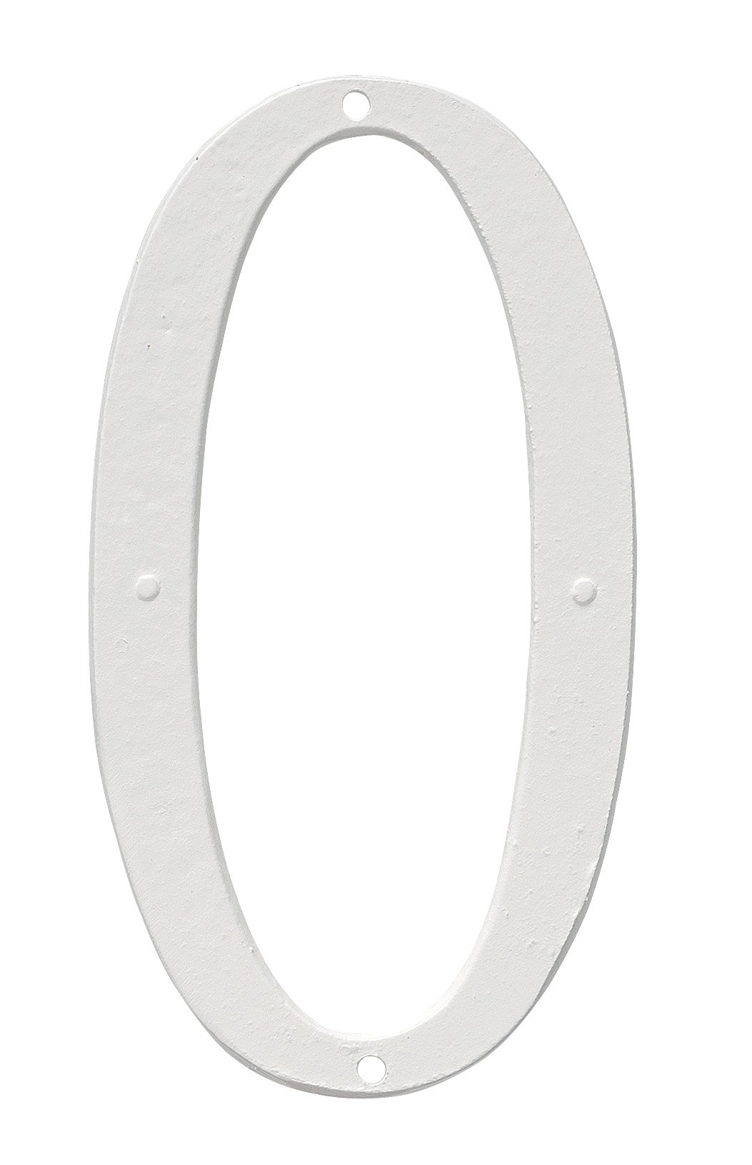 Montague Metal Products CSHN-4-0-W Aluminum House Number 0 Outdoor Plaque, Small, White