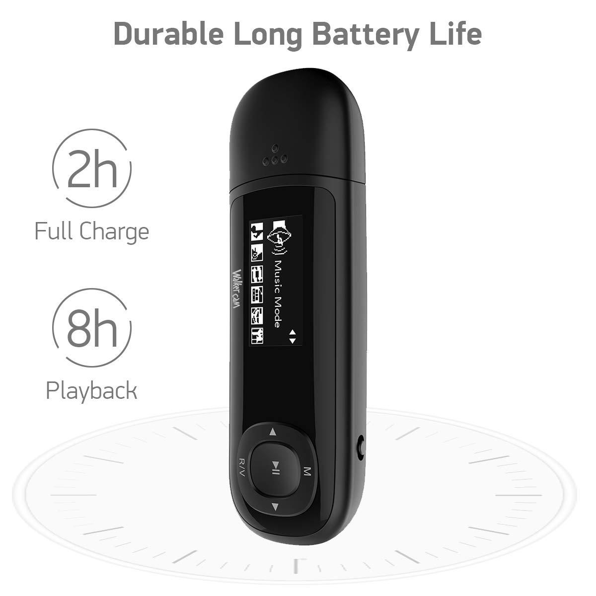 1 Jahr Ersatzgarantie Ebook SD-Karte erweiterbar UKW-Radio unterst/ützt Aufnahme Walkercam M1 8 GB USB-Stick MP3-Musik-Player
