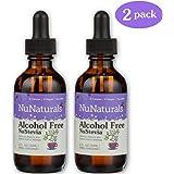 NuNaturals Nustevia Alcohol Free Stevia Glass Bottle Liquid, 2-Ounce (2 Pack)
