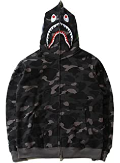 44c40e92fbfb scarlett Mens Hoodies Ape Bape 3D Printed Camouflage Sweatshirt Full Zip  Sweater Long Sleeve Hoodie