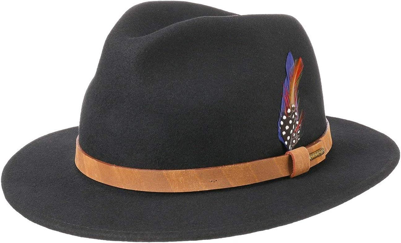 Stetson Sombrero de Fieltro Darton Traveller Hombre - Outdoor Lluvia con Banda Piel otoño/Invierno
