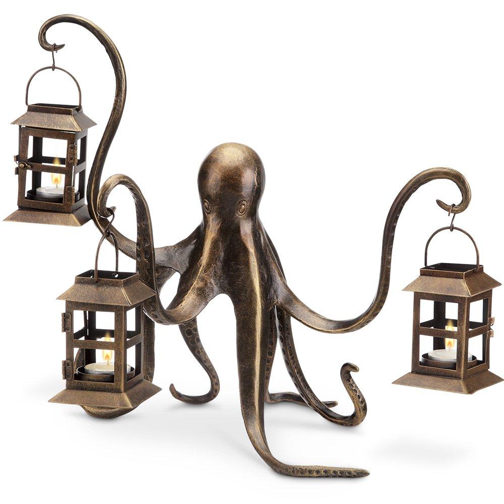 Octopus Lantern,Brown,13.5