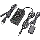 Gonine AC-PW20 Power Supply AC Adapter NP-FW50 Dummy Battery DC Coupler Set, for Sony Alpha A6500, A6400, A6300, A7, A7II, A7