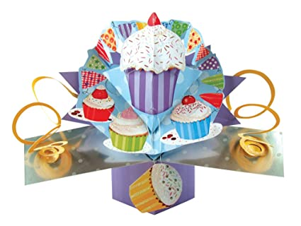Amazon.com: The Original Pop Ups – 048 – – Cupcakes tarjeta ...