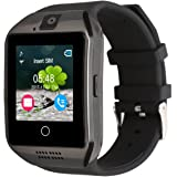 Kivors Q18 Bluetooth Smart Watch with Camera Support SIM Card & TF Card Pedometer Fitness Tracker Watch for Android & IOS