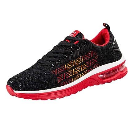 LuckyGirls Zapatos para Hombres Malla de Triángulo Color de Mezcla Casual Zapatillas de Correr Running Calzado