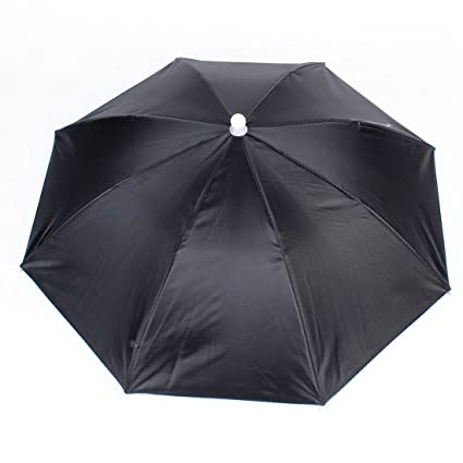 Amazon.com  uxcell Polyester Headwear Canopy Umbrella Hat for ... b51634ff023