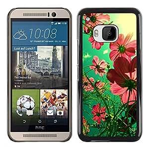Cubierta protectora del caso de Shell Plástico    HTC One M9    Summer Field Green Pink Sunny @XPTECH