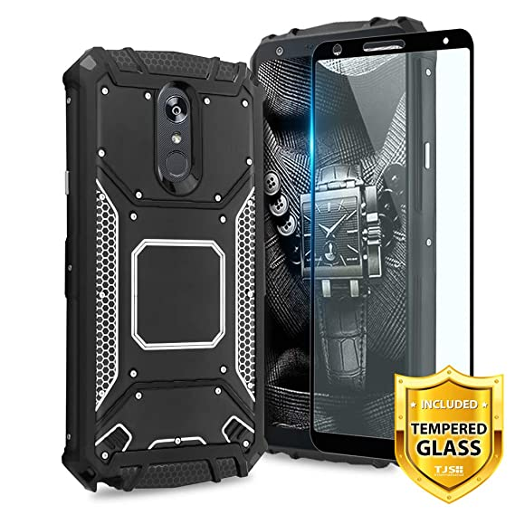 buy popular 5a157 98496 TJS LG Stylo 4 2018/LG Stylo 4 Plus/LG Q Stylus/LG Q Stylus Plus/LG Q  Stylus Alpha Phone Case, [Full Coverage Tempered Glass Screen Protector] ...