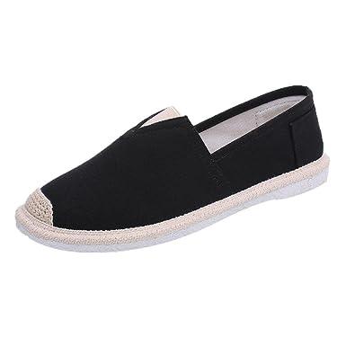 01af2a6f1f53 DENER Men Penny Canvas Loafers, Black Wide Width Comfortable Slip on ...