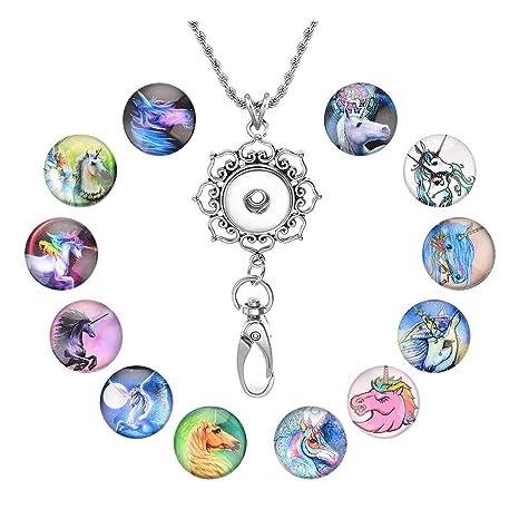Amazon.com: Souarts – Collar con 12 colgantes de cristal con ...