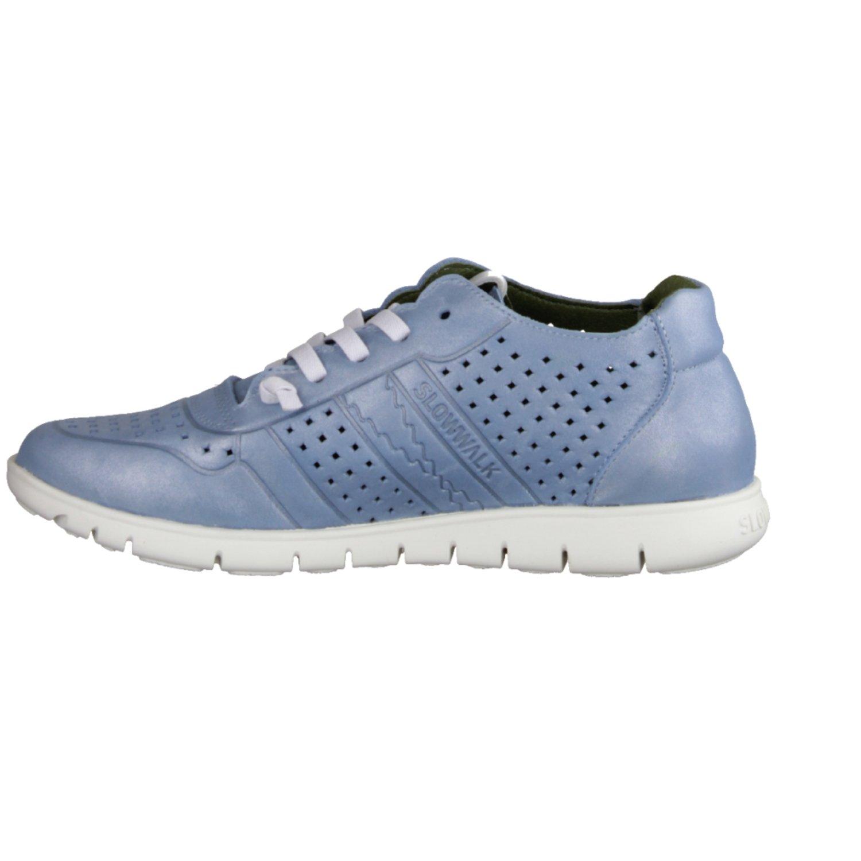 Morvi 10502W- Damenschuhe Sneaker, Blau, Leder (Kermit) Slowwalk