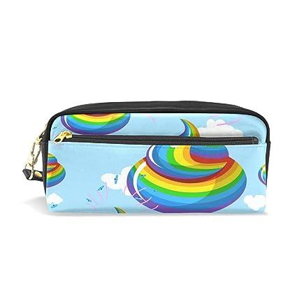Estuche para lápices de colores de arcoíris divertido, estuche ...