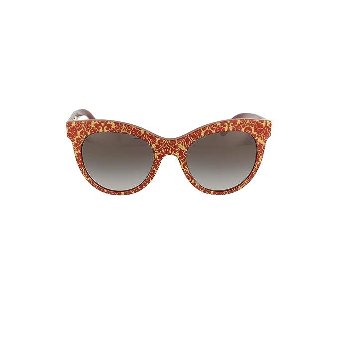 Ray-Ban 0DG4311 Gafas de Sol, Damascus Glitter On Bordeaux ...