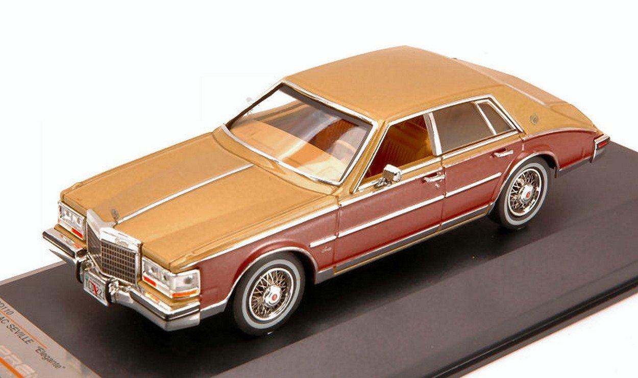 1/43 キャデラック セビル エレガンテ /1980/ゴールド&ブラウン(PremiumX PRD0110) B00BQFGQFG
