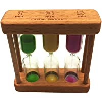 Hourglass Sand Timer,Hourglass Decor,Sandglass Timer for Home Office Desk , Timer for Games Classroom,3 in 1 1+3+5…