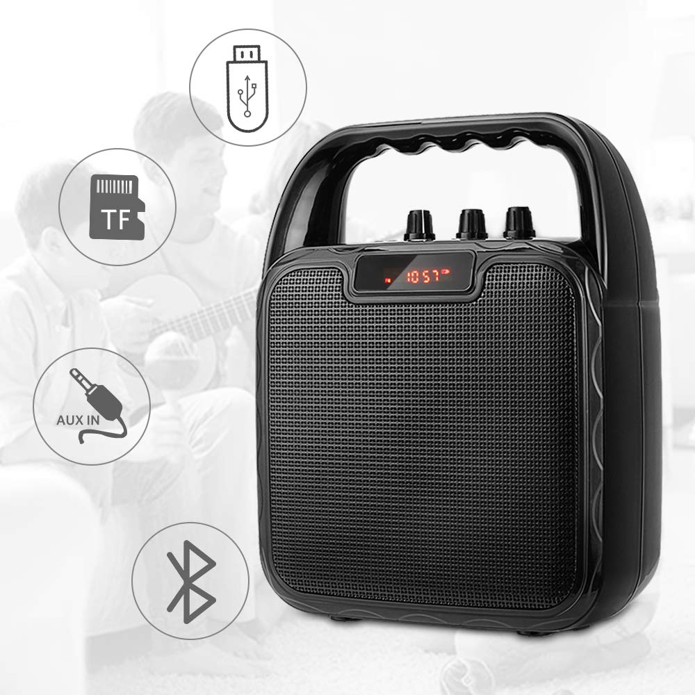 ARCHEER Portable PA Speaker System, bluetooth Speaker with Microphone, Karaoke Machine Voice Amplifier Handheld Mic Perfect for Party,Karaoke and other Outdoors and Indoors Activities by ARCHEER (Image #6)