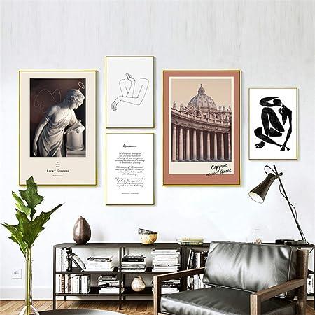 Lkxnb Peinture Murale Moderne Et Chaude Pour Salon