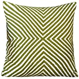 LivebyCare Embroidery Stripe Stuffed Throw Pillow PP Cotton Insert 18 x 18 Inch Seat Chair Back Cushion Zipper for Decorative Car Home Sofa Seder