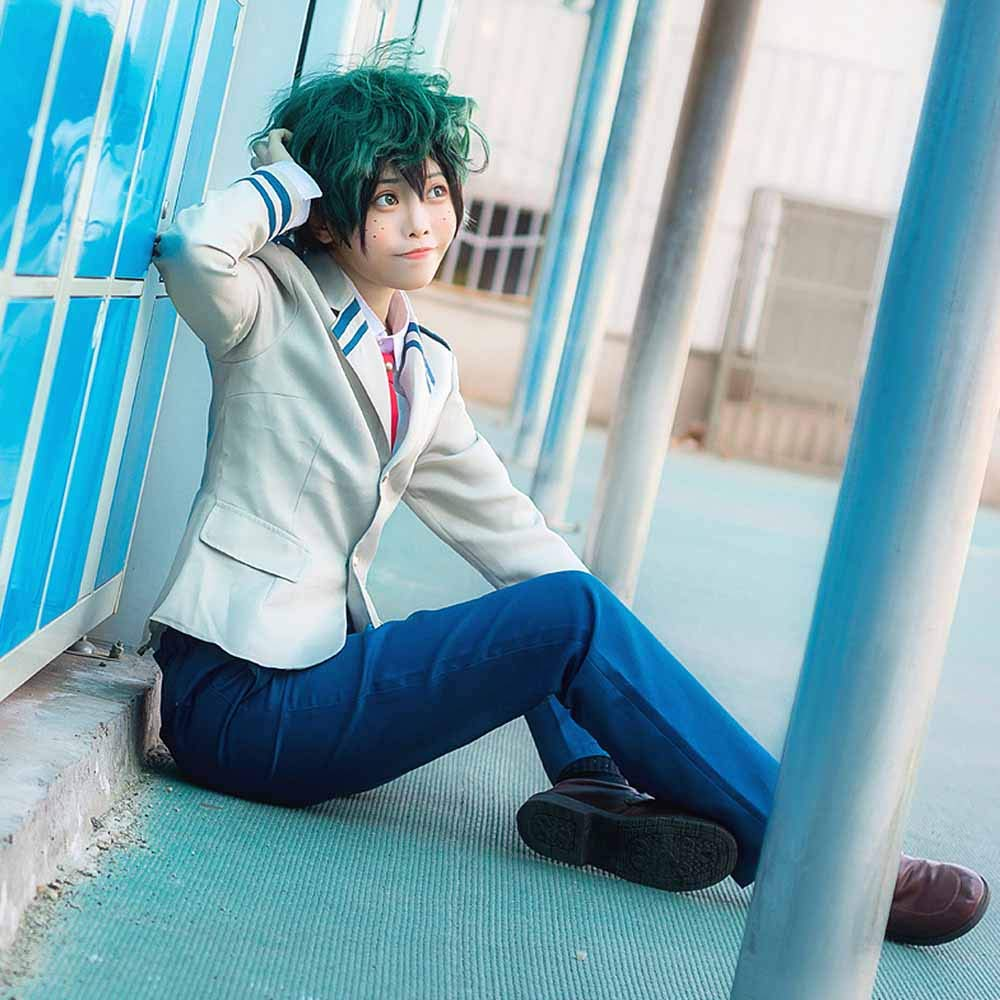Anime Cosplay My Hero Academia Ochaco Uraraka/Izuku Blazer Cosplay Costume School Girls Boys Uniform Costume (Pants Set, S/Waist 24.41'') by KINOMOTO (Image #7)
