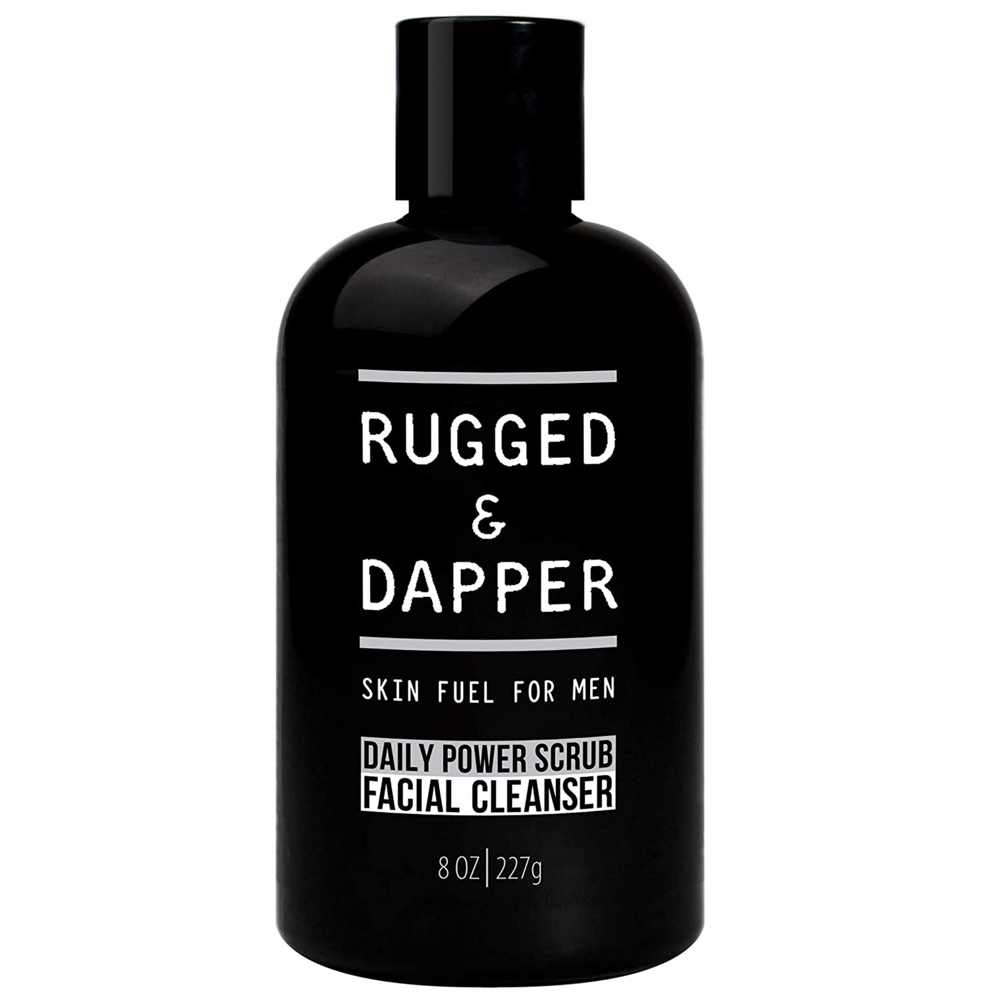 RUGGED & DAPPER Daily Power Scrub Face Wash + Exfoliating Facial Cleanser for Men | Organic & Non-Toxic Skincare - 8 Oz