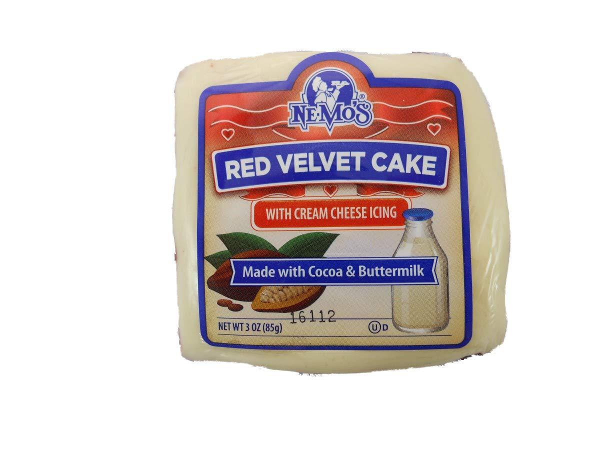 Ne Mos Red Velvet Cake Square - 6 count per pack -- 6 packs per case.