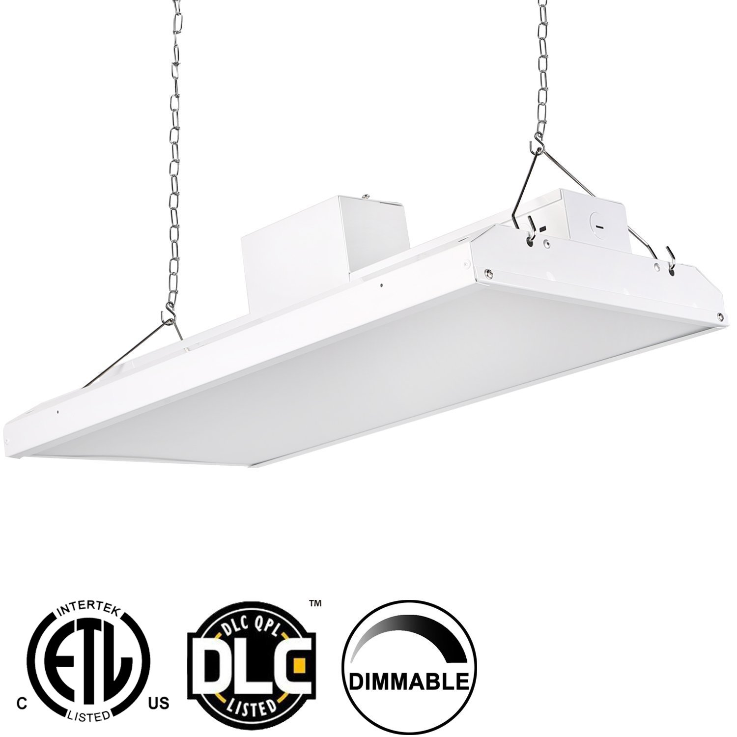 Hykolity 2' LED Linear High Bay Shop Light Fixture 110W [400W Fluorescent Equivalent] 14500lm 5000K Dimmable Commercial Grade Warehouse Area Indoor Industrial Lights DLC Premium 4.2 Certified