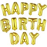 16 Inch Gold Alphabet Letters Balloons Happy Birthday Party Decoration Aluminum Foil Membrane Ballon