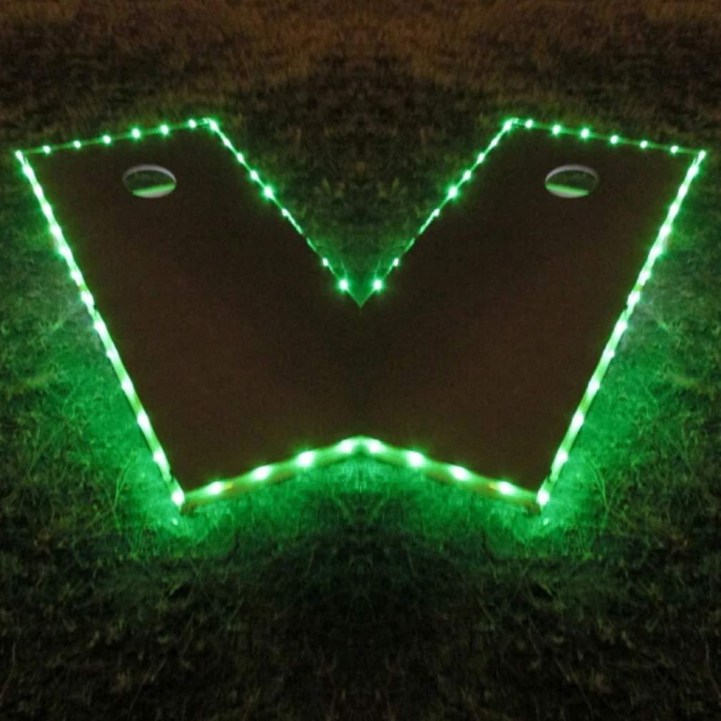 Long Lasting Corn Hole Lights Great for Tailgates Games Backyard Lawn Wedding BBQ /& More Cornhole Boards Ring Lights Set of 2 Waterproof Ultra Bright LED Cornhole Lights