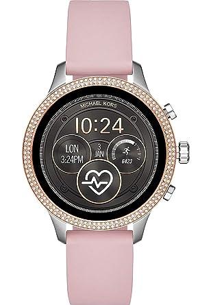 Michael Kors Reloj Mujer de Digital con Correa en Silicon MKT5055: Amazon.es: Relojes