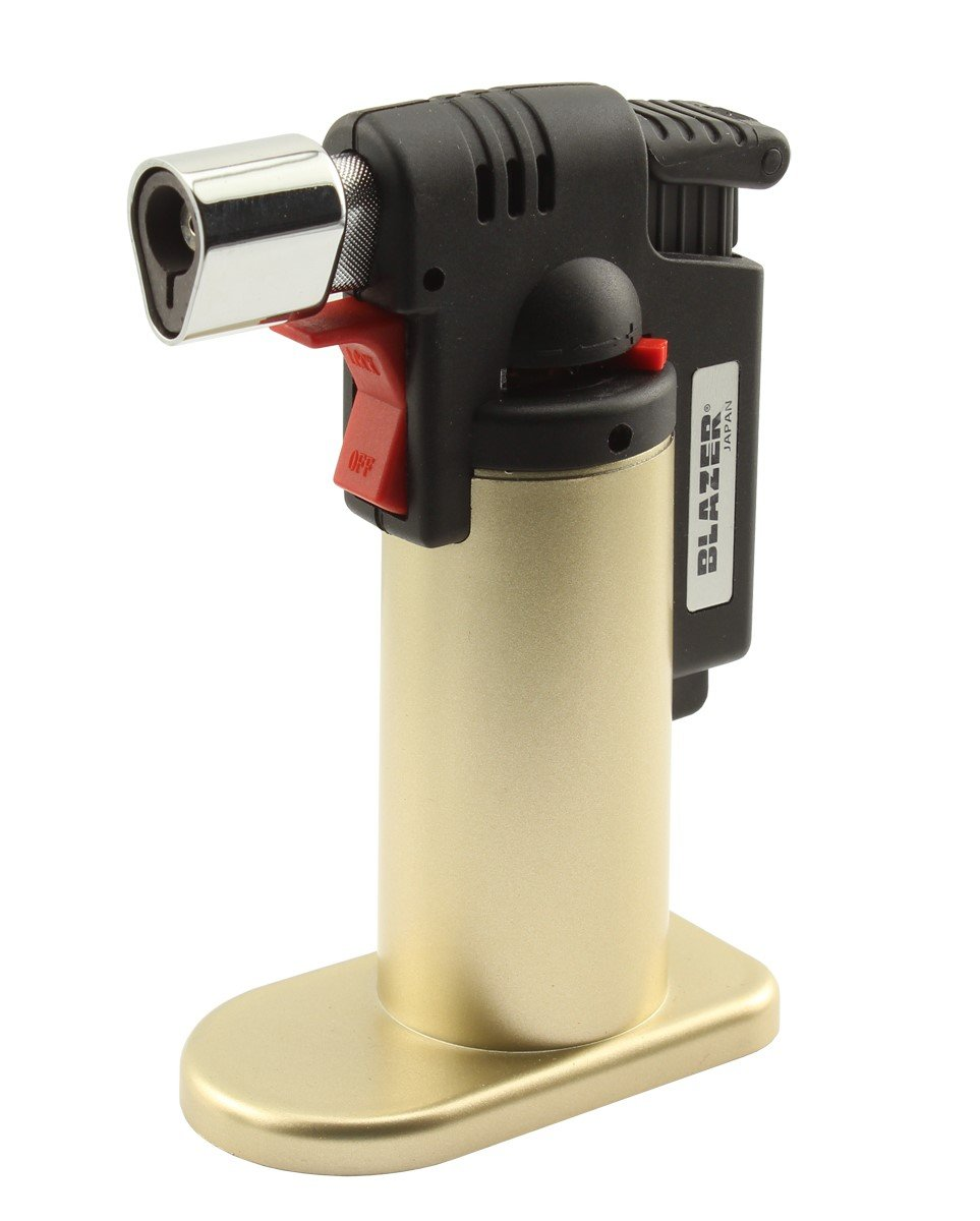 Blazer 189-9275 Fire Fox Butane Refillable Mini Torch, Gold