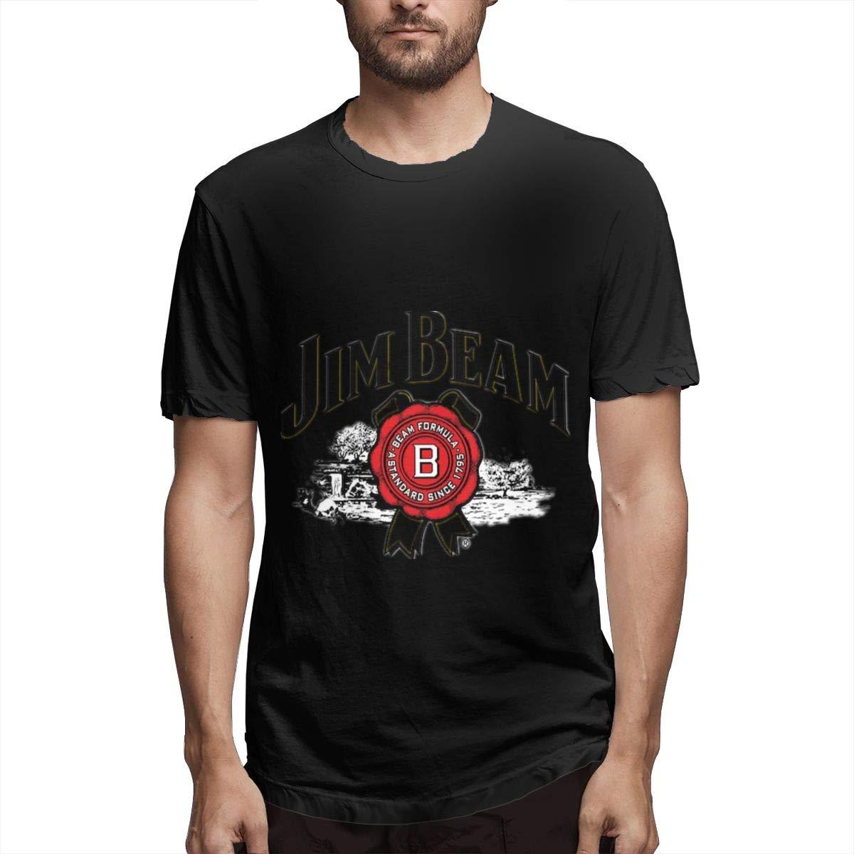 Lihehen Man Jim Beam Logo Round Neck Shirts