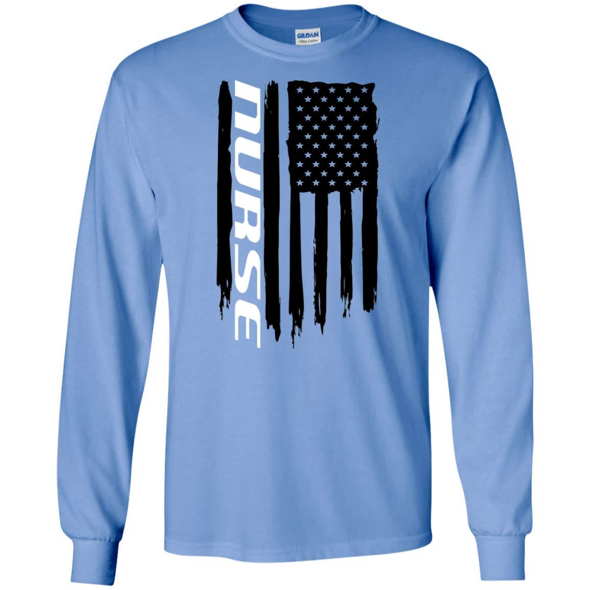 Nurse Nursing RN Medical American Flag T-Shirt