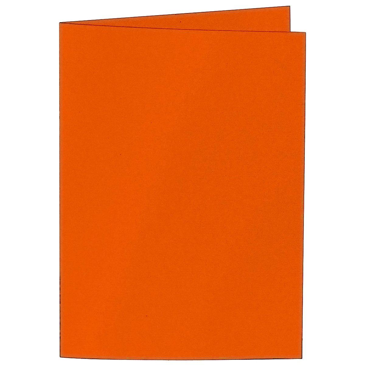 50 pieza//Artoz Serie 1001 doble doble doble Tarjetas acanalados.//hochdo ppelt//DIN A5, 297 x 210 mm, de gran calidad, Mandarin 9038b5