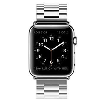 Correa Apple Watch 42mm Acero Inoxidable Repuesto de Pulsera para iWatch con Metal Corchete, LeeHur Correa de Reemplazo de Apple Watch para iWatch ...