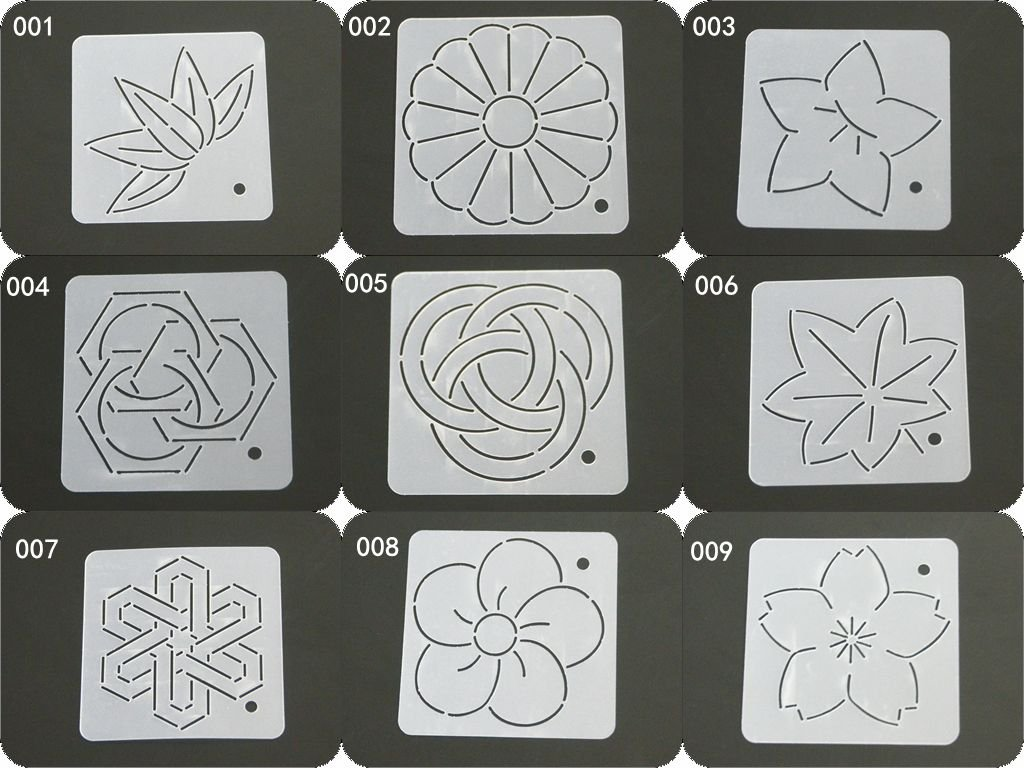 HONEYSEW Semi-transparent Quilting Template Patchwork Tools Quilt Handmade DIY Sewing Tool Leaf Pattern (9pcs total) 4336997497