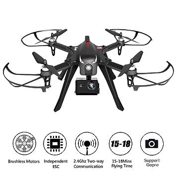 rctown Drone sin escobillas apoyo GoPro Cámaras de Acción, RC ...