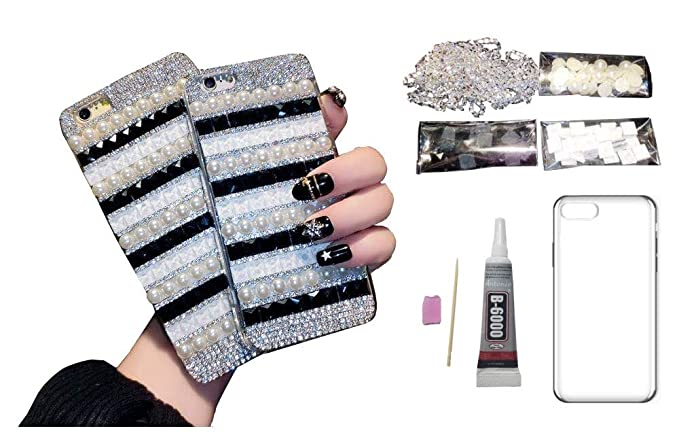 info for 61aad f1025 Amazon.com: DIY 3D White Pearl Decoration Cell Phone Case Kit/Set ...