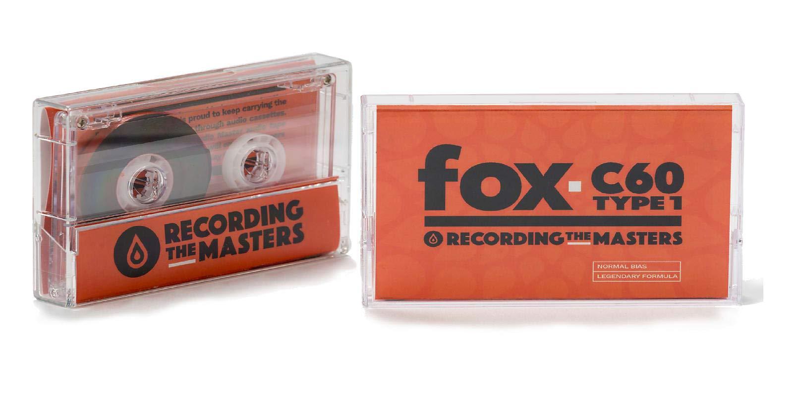 Recording The Masters FOX C60 TYPE 1 Audio Cassettes [Box of 10]